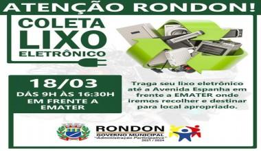 Rondon realiza coleta de lixo eletrônico