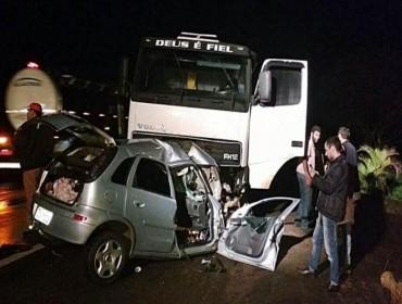 Acidente com vitimas fatal na PR 323 próximo ao trevo de São Lourenço